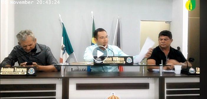 11ª SESSÃO: Câmara recebe projeto do executivo que trata sobre saneamento básico
